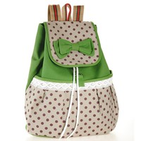 Super Cute Lace Casual Canvas Bowknot School Backpack