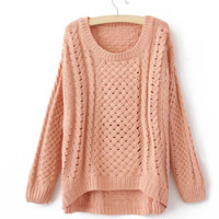 ROUND COLLAR FASHION SWEATER for girls