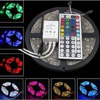 SUPERNIGHT 16.4ft 5M Waterproof Flexible strip 300leds Color Changing RGB SMD5050 LED Light Strip Kit RGB 5M +44Key Remote+12V 5A Power Supply:Amazon:Home Improvement