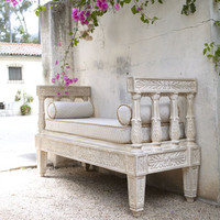Outdoor Bench & Cushion Set