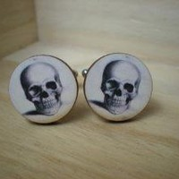 WEDDING SPECIAL 5 Pairs of Skull Cufflinks by Nostalgiclinks