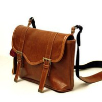 Amazon.com: Faux Leather Vintage Camera Bag Style with Shoulder Strap: Clothing