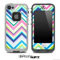 Chevron V4 Fun Color Pattern Skin for the iPhone 5 or 4/4s LifeProof Case