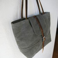 Tote in Vintage Canvas Reserved by infusion on Etsy