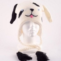 Puppy Love Knit Dog Hat White and Black