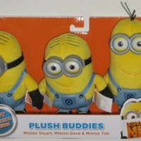 Despicable Me 2 Plush Buddies Exclusive 3-pack with Minion Stuart, Minion Dave and Minion Tim:Amazon:Toys & Games