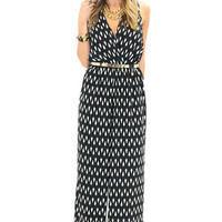 DIAMOND DOT JUMPSUIT - Black/White