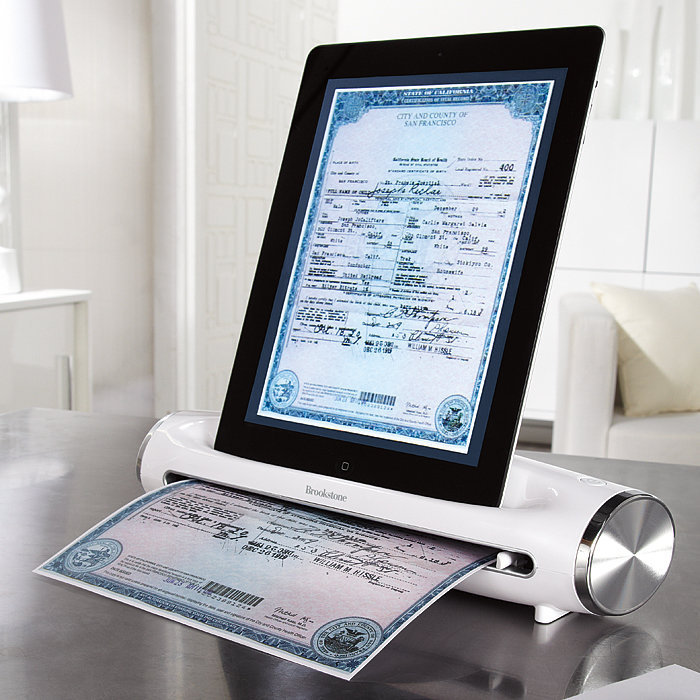 iConvert® Scanner for iPad Tablet at Brookstoneâ??Buy Now!