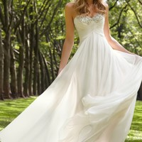 2013 Wedding Dresses Empire Waist Sweetheart Sweep/Brush Train Chiffon Ruffles USD 169.99 LDPQKYN8RS - LovingDresses.com