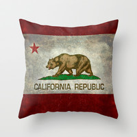 State flag of California Throw Pillow by LonestarDesigns2020 - Flags Designs +