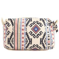Tribal Print Cosmetics Bag: Charlotte Russe