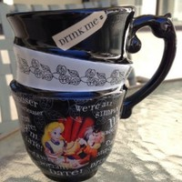 Disney Park Alice in Wonderland Triple Cup Design Ceramic Mug NEW:Amazon:Everything Else