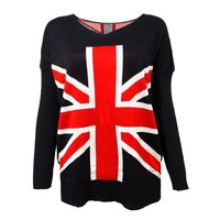 Union Jack Pattern Flag Jumper