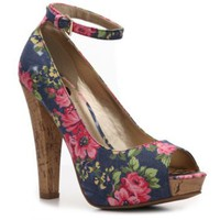 G by GUESS Crimson Floral Pump Peep Toes Pumps &amp; Heels Women&#x27;s Shoes - DSW