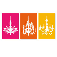 Modern Decor Neon Brights Chandelier Trio
