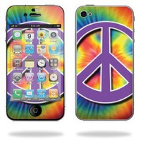 Amazon.com: Protective Vinyl Skin Decal for Apple iPhone 4 or iPhone 4S AT&T or Verizon 16GB 32GB - Hippie Time: Cell Phones & Accessories