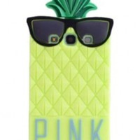 BYG Yellow 3D lovely Fruit Ananas Style Soft Case Protective Cover For Samsung Galaxy S3 I9300 + Gift 1pcs Phone Radiation Protection Sticker:Amazon:Cell Phones & Accessories