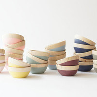 Wooden Mini Bowl, Choose Your Color, ring cup, spice pinch bowl