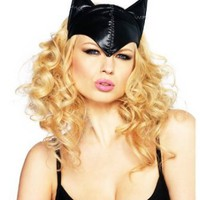 Amazon.com: Sexy Adult Women Feline Femme Fatale mask By Leg Avenue, Black, One Size: Clothing