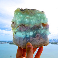 Large Aura Cleansing Fluorite Slab