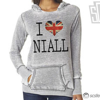 I Love Niall Horan Hoodie - One Direction WOMENS Hooded Pullover Sweatshirt - 058