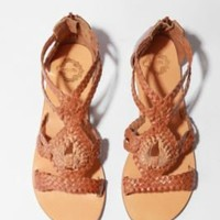 UrbanOutfitters.com &gt; Ecote Leather Macram Gladiator Sandal