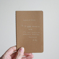 leaves of grass cahier moleskine notebook. Unlined.