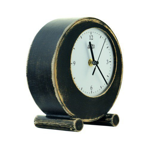 clock circle black OLDE    FREE SHIPPING by ArtmaStudio on Etsy