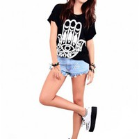 Hamsa' Oversize Bf Tee-Dress by Youreyeslie.com Online store> Shop the collection