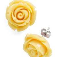 Retro Rosie Earrings in Banana | Mod Retro Vintage Earrings | ModCloth.com