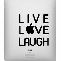 Live Love Laugh Ipad Decal on Luulla
