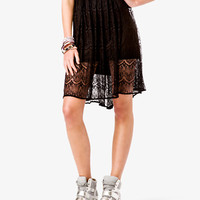Scalloped Lace Skirt | FOREVER 21 - 2040496194