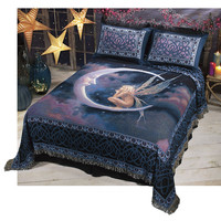 Fairy on the Moon Bedding - New Age, Spiritual Gifts, Yoga, Wicca, Gothic, Reiki, Celtic, Crystal, Tarot at Pyramid Collection