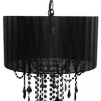 Tadpoles One Bulb Shaded Chandelier, Black:Amazon:Baby