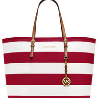 MICHAEL Michael Kors Handbag, Jet Set Stripe Medium Travel Tote - Tote Bags - Handbags & Accessories - Macy's