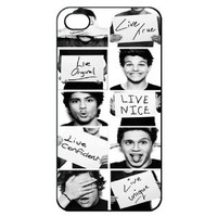 One Direction Hard Back Shell Case Cover Skin for Iphone 4 4g 4s Cases - Black/white/clear