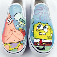 SpongeBobSquarePants Shoes SpongeBob Painting Shoes