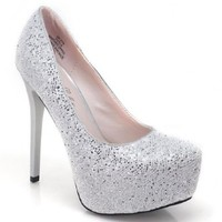 citi5-H Metallic Dress Platform Pump Round Toe Stiletto High Heel Women Shoes:Amazon:Shoes