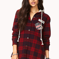 Grunge Hooded Plaid Flannel | FOREVER 21 - 2000051984