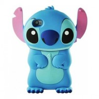 A-Sonic Disney 3d Stitch Movable Ear Flip Hard Case Cover for Iphone 4/4s Xmas gift:Amazon:Cell Phones & Accessories