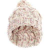 Cream Colour Fleck Bobble Hat