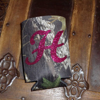 Camo Koozie Mossy OakPersonalized by BILLEEVERSBOUTIQUE on Etsy