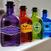 Halloween apothecary bottle collection