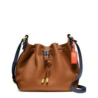Coach :: New Soft Legacy Drawstring Crossbody In Pebbled Leather