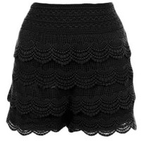 The Black Lace Skirt