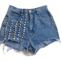 """Studs Up"" High Waist Studded Shorts"