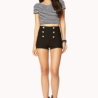 Textured High-Waisted Shorts | FOREVER 21 - 2000051344