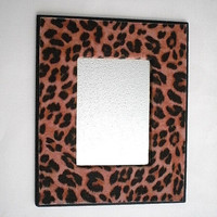 ANIMAL PRINT MIRROR - w/ cheetah eco felt