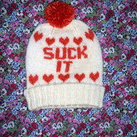 Suck It MADE TO ORDER by adarlingknits on Etsy