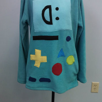Custom BMO Adventure Time Fleece Sweatshirt